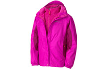 Marmot Girl's Northshore Jacket pink flame/plum rose